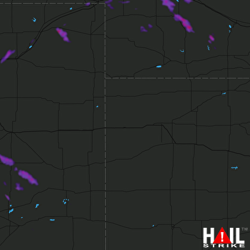 Hail Map North Platte, NE 08-08-2019