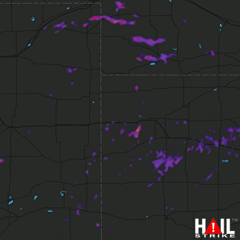 Hail Map Wakeeney, KS 08-11-2019