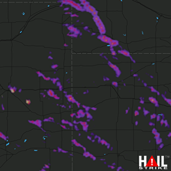 Hail Map Hays, KS 08-13-2019