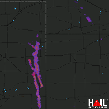 Hail Map Cheyenne Wells, CO 08-15-2019