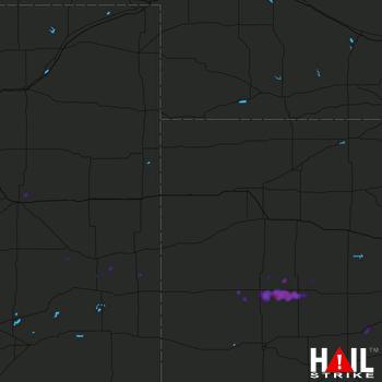 Hail Map Dighton, KS 08-16-2019