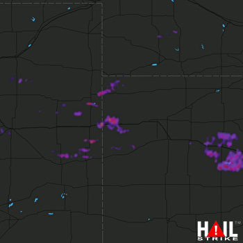 Hail Map Hays, KS 08-18-2019
