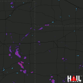 Hail Map Lamar, CO 08-23-2019