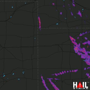Hail Map Norton, KS 08-25-2019