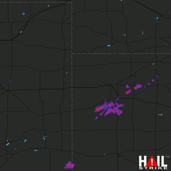 Hail Map Hoxie, KS 09-10-2019