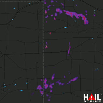 Hail Map Colby, KS 09-20-2019