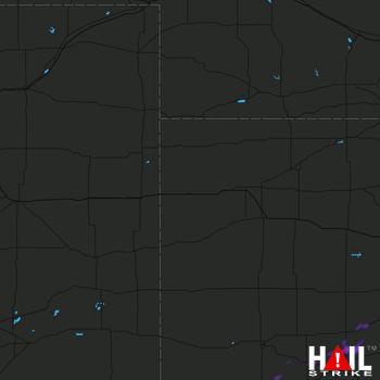 Hail Map Cimarron, KS 09-24-2019