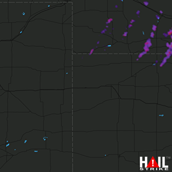 Hail Map North Platte, NE 10-01-2019