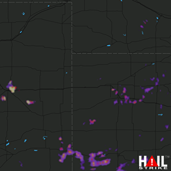 Hail Map Ulysses, KS 05-22-2020