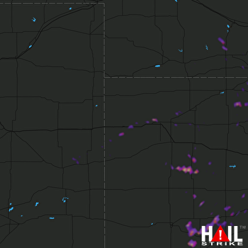 Hail Map Hays, KS 05-25-2020