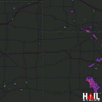 Hail Map Norton, KS 06-21-2020