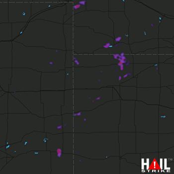 Hail Map Oshkosh, NE 06-25-2020