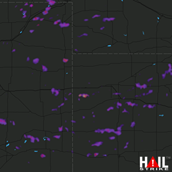 Hail Map Scott City, KS 06-27-2020