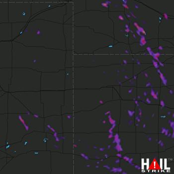Hail Map Garden City, KS 07-30-2020