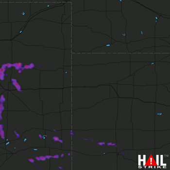 Hail Map Holly, CO 08-05-2020