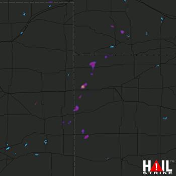 Hail Map Tribune, KS 08-08-2020