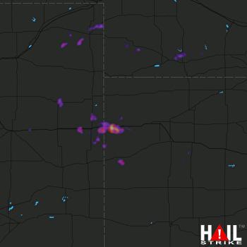 Hail Map Sharon Springs, KS 08-11-2020