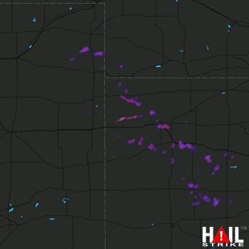 Hail Map Colby, KS 08-12-2020