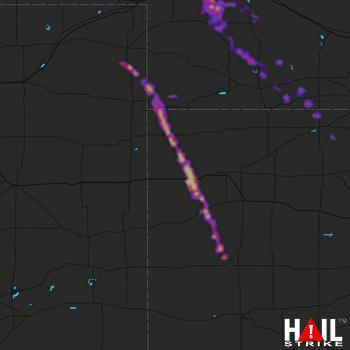 Hail Map Sutherland, NE 05-14-2021