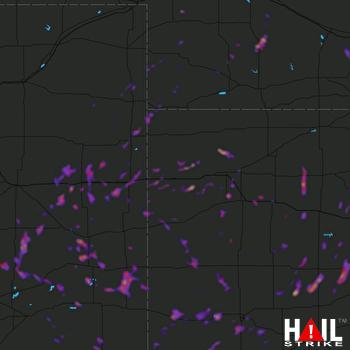 Hail Map Burlington, CO 05-17-2021