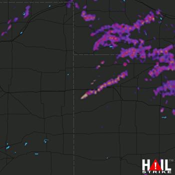 Hail Map Hays, KS 05-26-2021