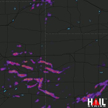 Hail Map Garden City, KS 06-25-2021