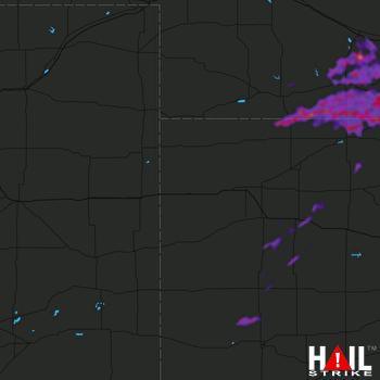 Hail Map Holdrege, NE 08-23-2021
