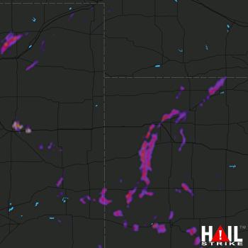 Hail Map Colby, KS 08-26-2021