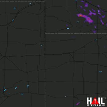Hail Map Curtis, NE 08-29-2021