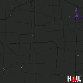 Hail Map Elwood, NE 09-17-2021