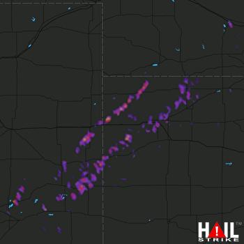 Hail Map Colby, KS 05-10-2017