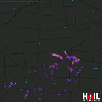 Hail Map Lamar, CO 05-11-2017