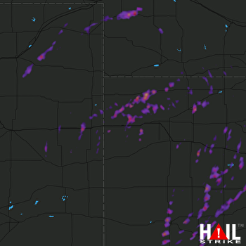 Hail Map Garden City, KS 05-16-2017