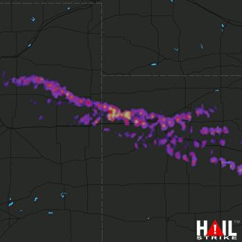 Hail Map Colby, KS 05-27-2017