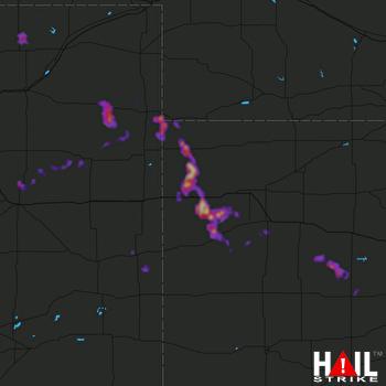 Hail Map Yuma, CO 06-01-2017