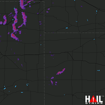 Hail Map Sterling, CO 06-08-2017