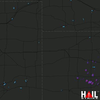 Hail Map Victoria, KS 06-18-2017