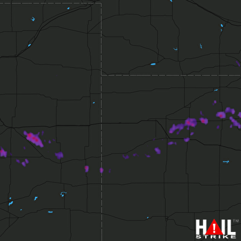 Hail Map Hoxie, KS 06-29-2017