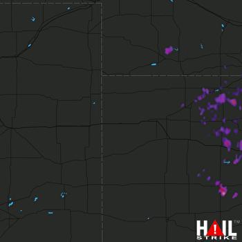 Hail Map Hays, KS 07-02-2017
