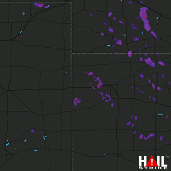 Hail Map North Platte, NE 07-03-2017