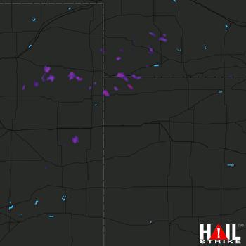 Hail Map Benkelman, NE 07-07-2017