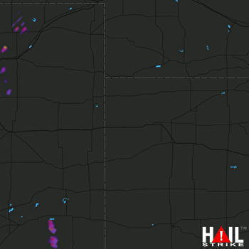 Hail Map Sidney, NE 08-08-2017
