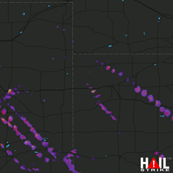 Hail Map La Junta, CO 08-10-2017