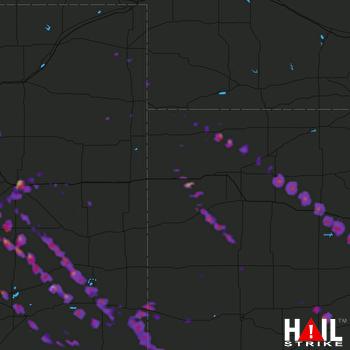 Hail Map La Junta, CO 08-10-2017