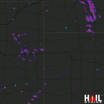 Hail Map Cozad, NE 08-14-2017