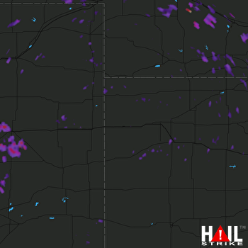 Hail Map Hays, KS 08-16-2017