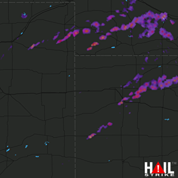 Hail Map Oakley, KS 10-01-2017