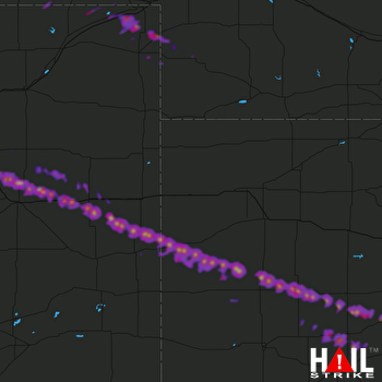 Hail Map Dighton, KS 05-15-2018