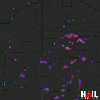 Hail Map Hays, KS 05-19-2018