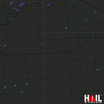 Hail Map Victoria, KS 05-24-2018